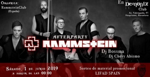 01 06 2019 after party fan club oficial rammstein
