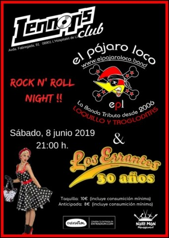 08 06 2019 el pajaro loco los errantes rock n roll night sala 1